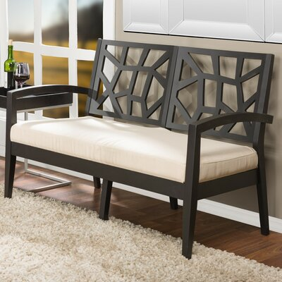 Criswell Loveseat Upholstery: Black/ Cream