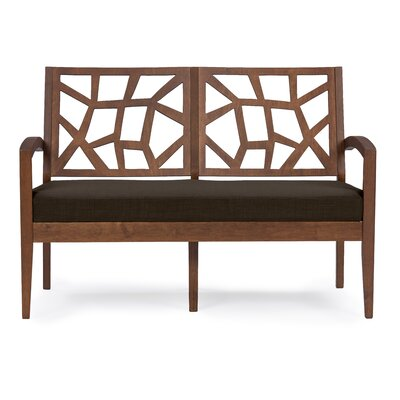 Criswell Loveseat Upholstery: Brown / Dark Brown