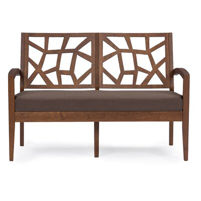 Criswell Loveseat Upholstery: Brown / Brown