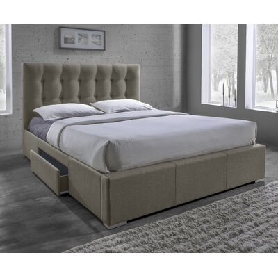 Alejo Upholstered Storage Platform Bed Upholstery: Brown, Size: King
