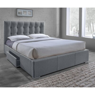Alejo Upholstered Storage Platform Bed Size: King, Upholstery: Grey
