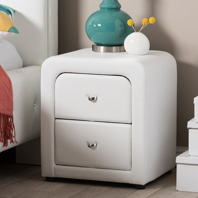 Melillo 2 Drawer Nightstand Color: White