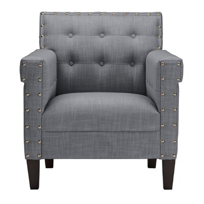 Monimus Armchair Color: Grey