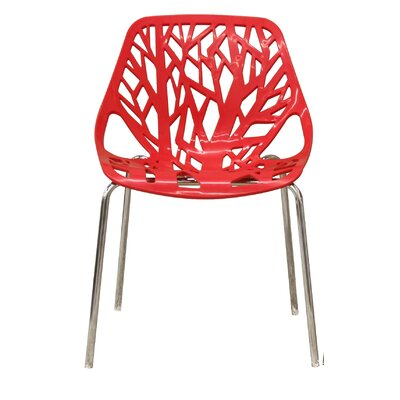 Ahumada Side Chair Finish: Red