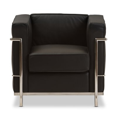 Demaree Mason Armchair Upholstery: Black