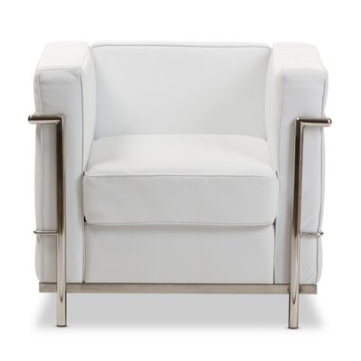 Demaree Mason Armchair Color: White