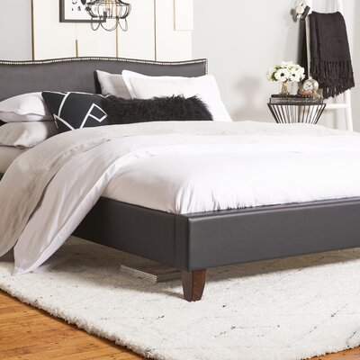 Aldaco Upholstered Platform Bed Size: Full, Color: Black