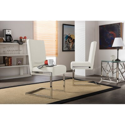 Alas Parsons Chair Upholstery: White