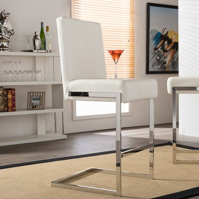 Deerfield 28 Bar Stool Upholstery: White