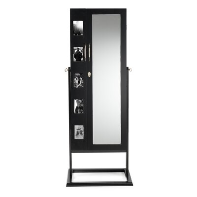Roberta Double Door Storage Jewelry Armoire Finish: Black