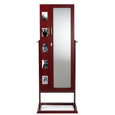 Roberta Double Door Storage Jewelry Armoire Finish: Brown