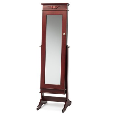 Despina Jewelry Armoire with Mirror Finish: Brown