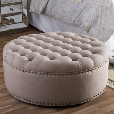 Cardere Cocktail Ottoman Upholstery: Beige