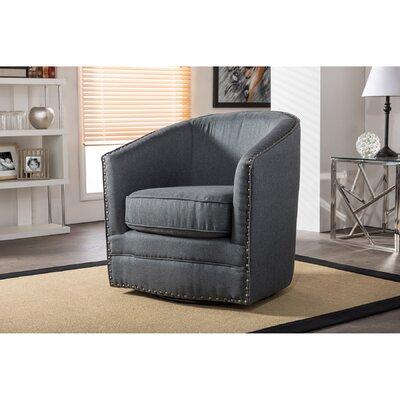 Chira Classic Retro Upholstered Barrel Chair Finish: Gray