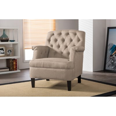 Sheryl Classic Retro Upholstered Arm Chair Upholstery: Beige