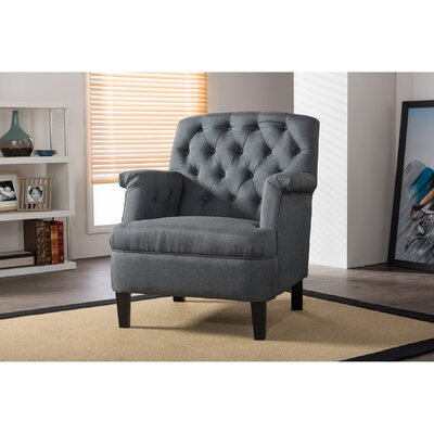 Sheryl Classic Retro Upholstered Armchair Upholstery: Gray