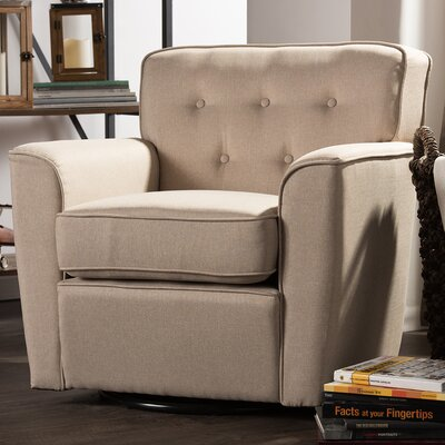 Kleopatros Retro Upholstered Lounge Chair Upholstery: Beige
