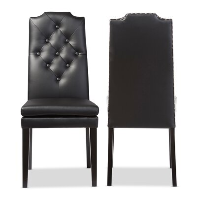 Ruskin Side Chair Upholstery: Black