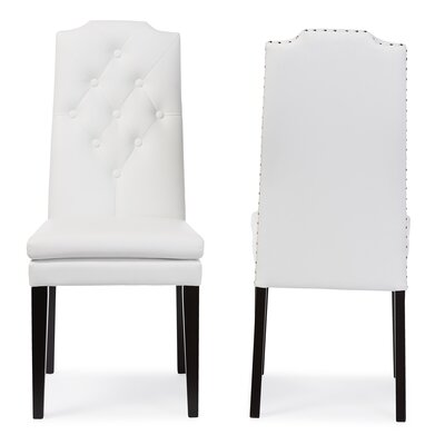 Ruskin Side Chair Upholstery: White
