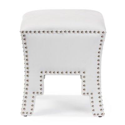 Arlo Ottoman Upholstery: White