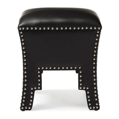Arlo Ottoman Upholstery: Black