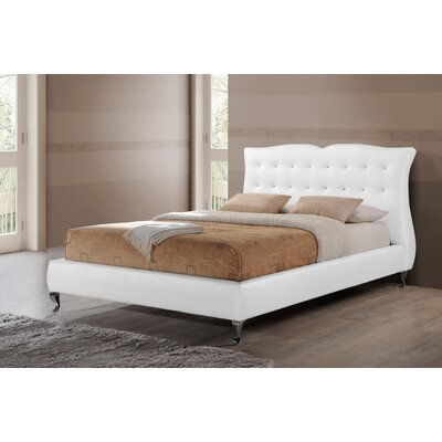Viviano Upholstered Platform Bed Size: King, Color: White
