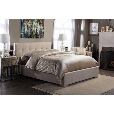 Trudeau Upholstered Platform Bed Size: King, Color: Beige
