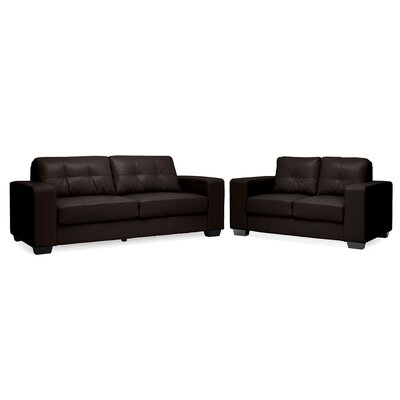 Lockport Modern and Contemporary Modern Loveseat and Sofa Set
