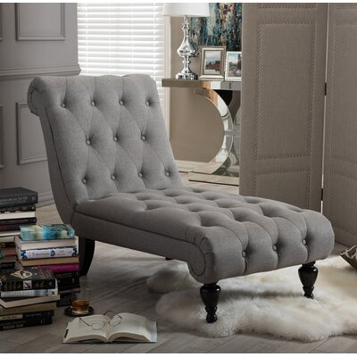 Colegrove Chaise Lounge Upholstery: Gray