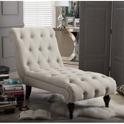 Colegrove Chaise Lounge Upholstery: Light Beige