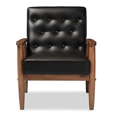 Tucanae Armchair Upholstery: Black