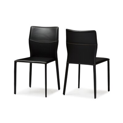 Aichele Side Chair Upholstery: Black