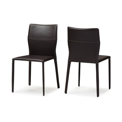 Aichele Side Chair Upholstery: Dark Brown