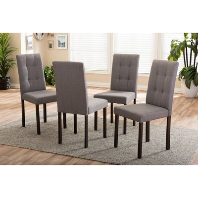 Aiello Side Chair Upholstery: Gray