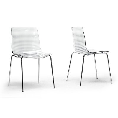 Volans Side Chair Finish: Clear