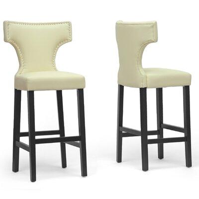 Trudel 30.87 Bar Stool Upholstery: Beige
