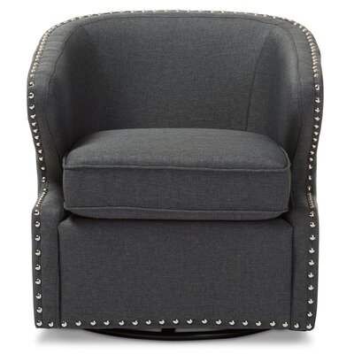 Microscopium Upholstered Swivel Wingback Arm Chair Color: Gray