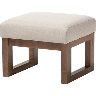 Eli Ottoman Upholstery: Light Beige