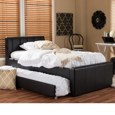 Viveros Twin Upholstered Platform Bed Color: Black