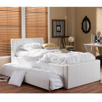Albury Twin Upholstered Platform Bed Upholstery: White