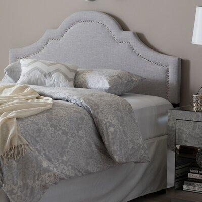Olivet Upholstered Panel Headboard Upholstery: Grayish Beige, Size: Queen