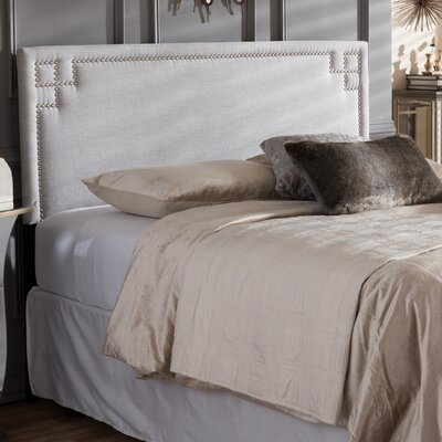 Aileu Upholstered Panel Headboard Size: Full, Upholstery: Grayish Beige