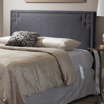 Aileu Upholstered Panel Headboard Upholstery: Dark Gray, Size: Full