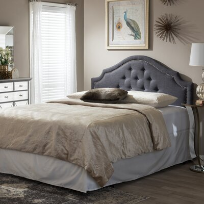 Lavinia Upholstered Panel Headboard Size: King, Upholstery: Dark Gray