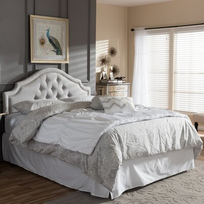 Canning Upholstered Panel Headboard Size: Full, Upholstery: Grayish Beige
