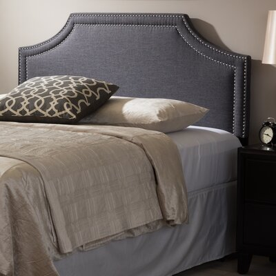 Albee Upholstered Panel Headboard Upholstery: Dark Gray, Size: Queen