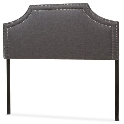 Albee Upholstered Panel Headboard Size: King, Upholstery: Dark Gray