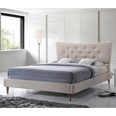 Mizuno Upholstered Platform Bed Size: King, Color: Dark Grey