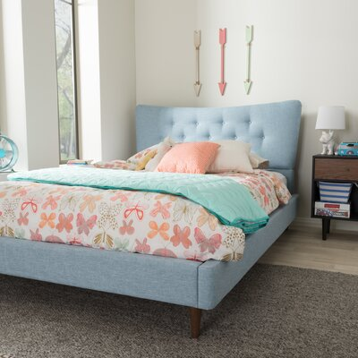 Mizuno Upholstered Platform Bed Size: King, Upholstery: Light Blue