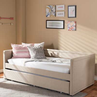 Glennis Daybed with Trundle Finish: Beige